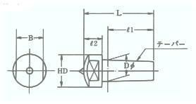単石ドレッサー二面幅テーパーランジス型